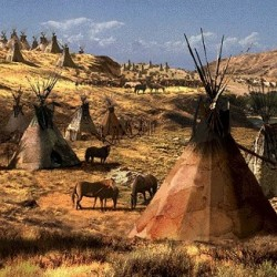 Die Indianer und das Tipi